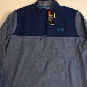 Men's UNDER ARMOUR 3/4 zipper fleece top